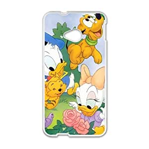 HTC One M7 Cell Phone Case White Disney Mickey Mouse Minnie Mouse AFT851409