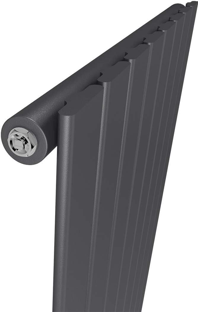 Heizk/örper Flach Design Vertikal Paneelheizk/örper 1600 x 460 mm Wei/ß Doppellagig Mittelanschluss Heizung