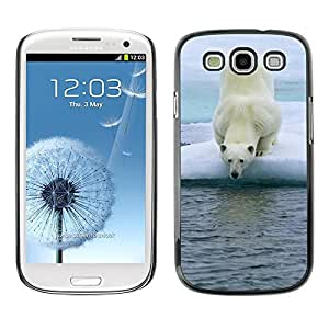 Slim Design Hard PC/Aluminum Shell Case Cover for Samsung Galaxy S3 I9300 Polar Bear / JUSTGO PHONE PROTECTOR
