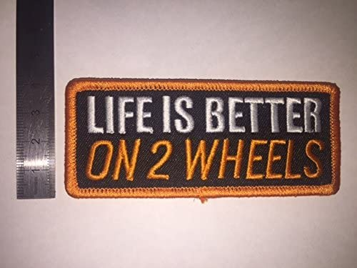LIFE IS BETTER ON 2 WHEELS THERMOCOLLANT ECUSSON PATCHES AUFNAHER TOPPA