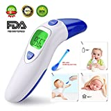 Thermometer Ear Temperature Forehead Fever Belly Electronic Contact IR Baby Child Adult Old Man FDA Without Contact Amount