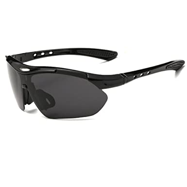 0d758dfb76a0 Amazon.com  Xuzirui Polarized Sports Sunglasses With Nearsighted Stand for  Riding Cycling Running Driving Fishing Golf Baseball Glasses (Black grey)   ...