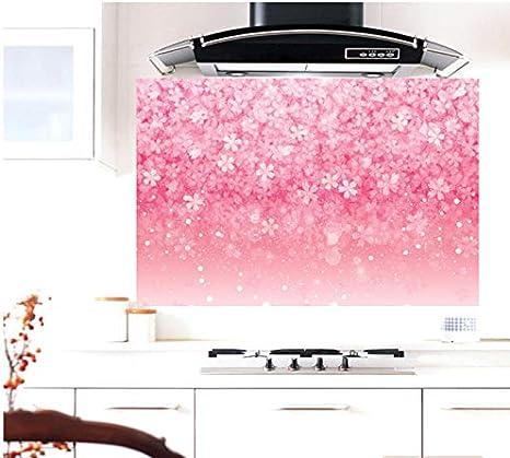 Cocina resistente a altas temperaturas aceite humo aceite mancha azulejo adhesivos impermeables adhesivos de pared gabinetes de decoración campana extractora pegatinas de aceite 50 * 75 cm