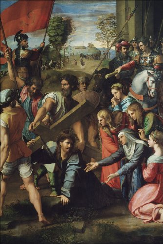 20x30 Poster; Jesus Christ Carrying Cross On The Way To Calvary By Raphael