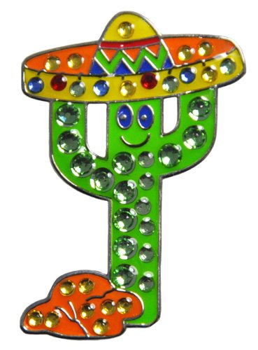 Navika Fiesta Cactus Swarovski bola de cristal de rotuladores para Clip del sombrero