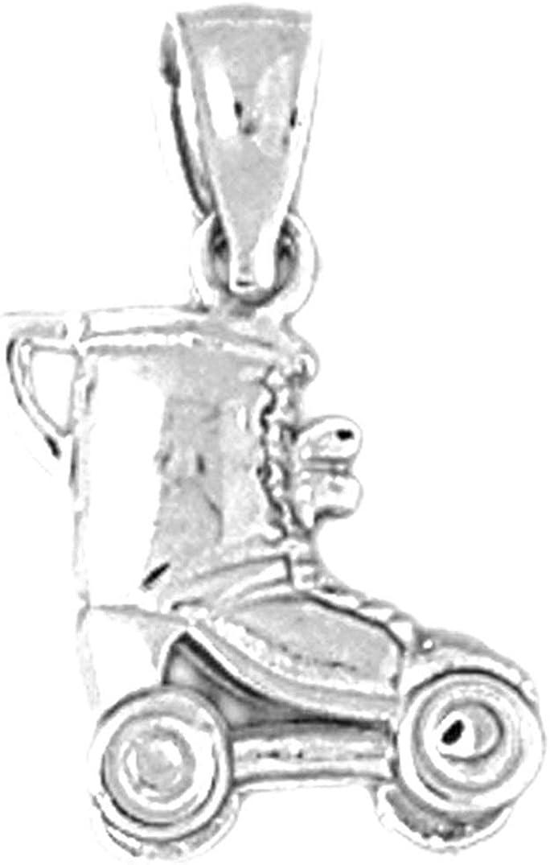 Jewels Obsession Roller Skates Pendant 19 mm Sterling Silver 925 Roller Skates Pendant