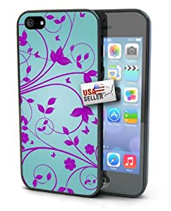 Lifebox - Pink and Teal Floral Art Hard Case for iPhone 5/5s