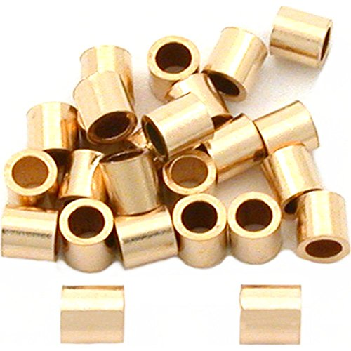 25 Gold Filled Tube Crimp Beads Jewelry Beading ()
