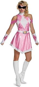 Disguise Vestido Disfraz de Power Ranger Mighty Morphin Rosa ...
