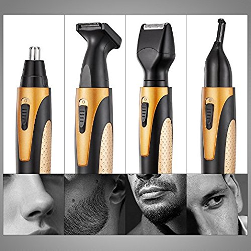 Nose Hair Trimmer, 4 in 1 Rechargeable Nose Trimmer/Nose ...