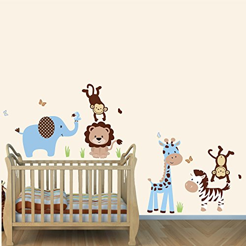 blue and brown wall decals - 2