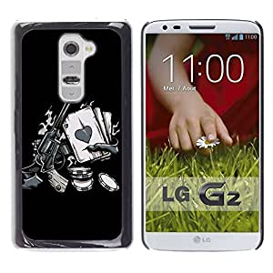 Be Good Phone Accessory // Dura Cáscara cubierta Protectora Caso Carcasa Funda de Protección para LG G2 D800 D802 D802TA D803 VS980 LS980 // Vintage Western Zombie Poker Hand