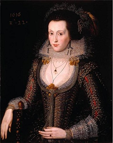 'Robert Peake - Elizabeth Poulett, 1616' Oil Painting, 20x25 Inch / 51x64 Cm ,printed On High Quality Polyster Canvas ,this Best Price Art Decorative Canvas Prints Is Perfectly Suitalbe For Home Theater Artwork And Home Gallery Art And Gifts (Tote Tuscany Wine)