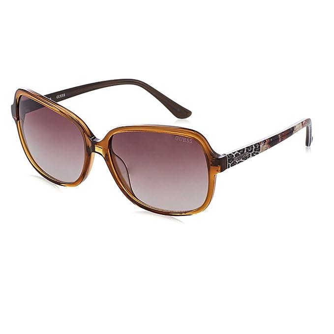 GUESS GU7382-45F, Gafas de Sol para Mujer, Shiny Light Brown, 60: Amazon.es: Ropa y accesorios