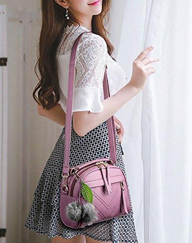 Sacs Faux à Sacs DEERWORD main épaule Sacs main portés bandoulière Cartable Cuir Sacs Sacs portés Violet Femme pxE71w5
