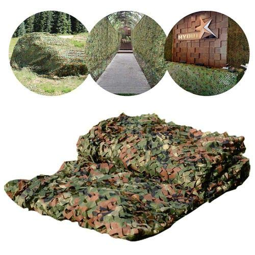 HYOUT Camouflage Netting Mesh,Camo Netting 20x20 Shade Blinds for Sunshade Camping Shooting Hunting Fishing Party Decoration ()