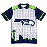 FOCO Seattle Seahawks Polyester Short Sleeve Thematic Polo Shirt Extra Large