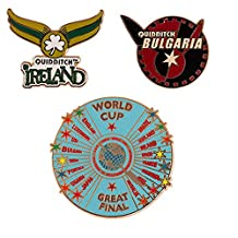 Wizarding World of Harry Potter : Quidditch World Cup 3 Pin Set Metal Trading Pins