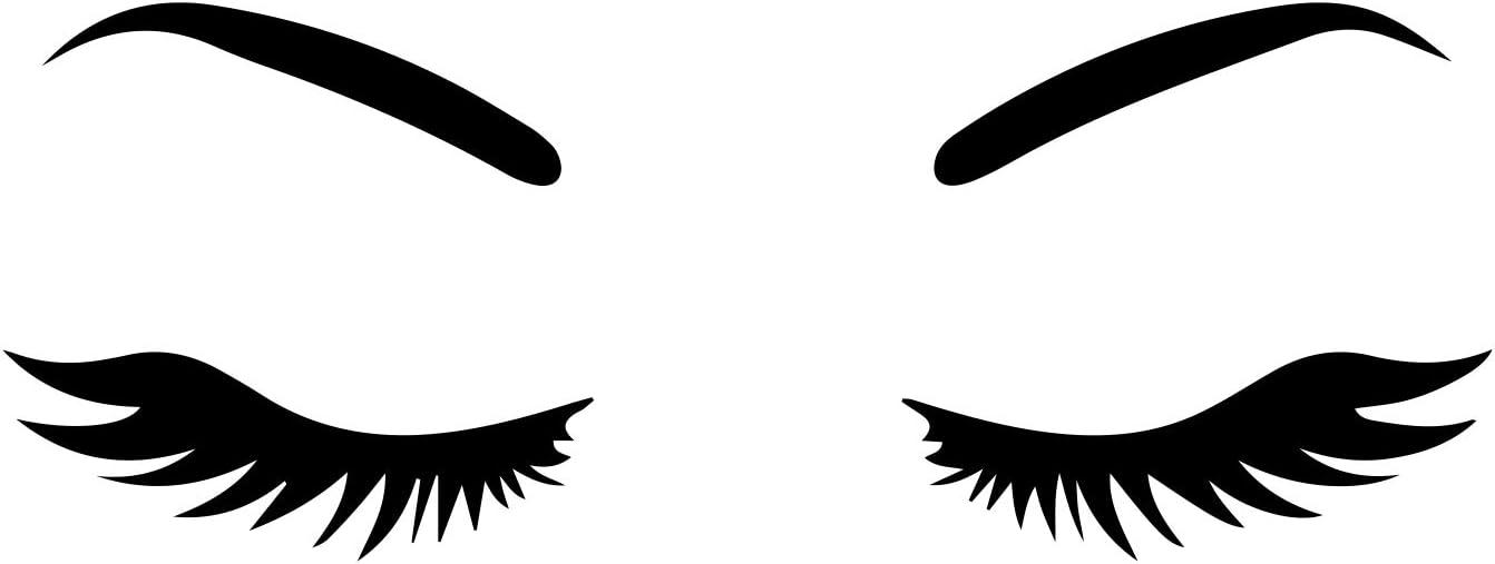 "World Design Eyelashes Girl Face Notebook Car Laptop 5.5"" (Black)"