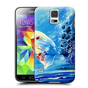 Unique Phone Case butterfly kiss water Hard Cover for samsung galaxy s5 cases-buythecase