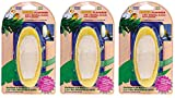 Penn Plax (3 Pack 2-in-1 Banana Flavor Mineral Cuttlebone, 5-Inch
