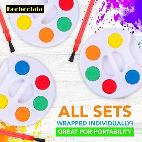 BooBooLaLa Mini Watercolor Paint Sets with Brush -24 sets