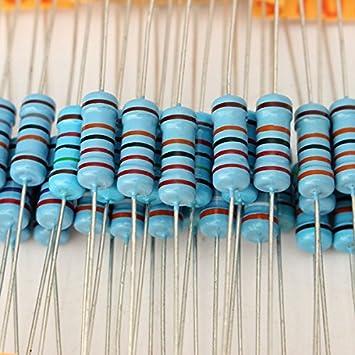Ils - 500 PC 1W 1% Resistencia Película metálica 100 de Valor DE 10 ohmios Kit surtido-1m ohmios: Amazon.es: Electrónica