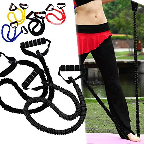 1 Type Fitness Equipment Resistance Bands Tube Workout Exercise Yoga Training (RANDOM)