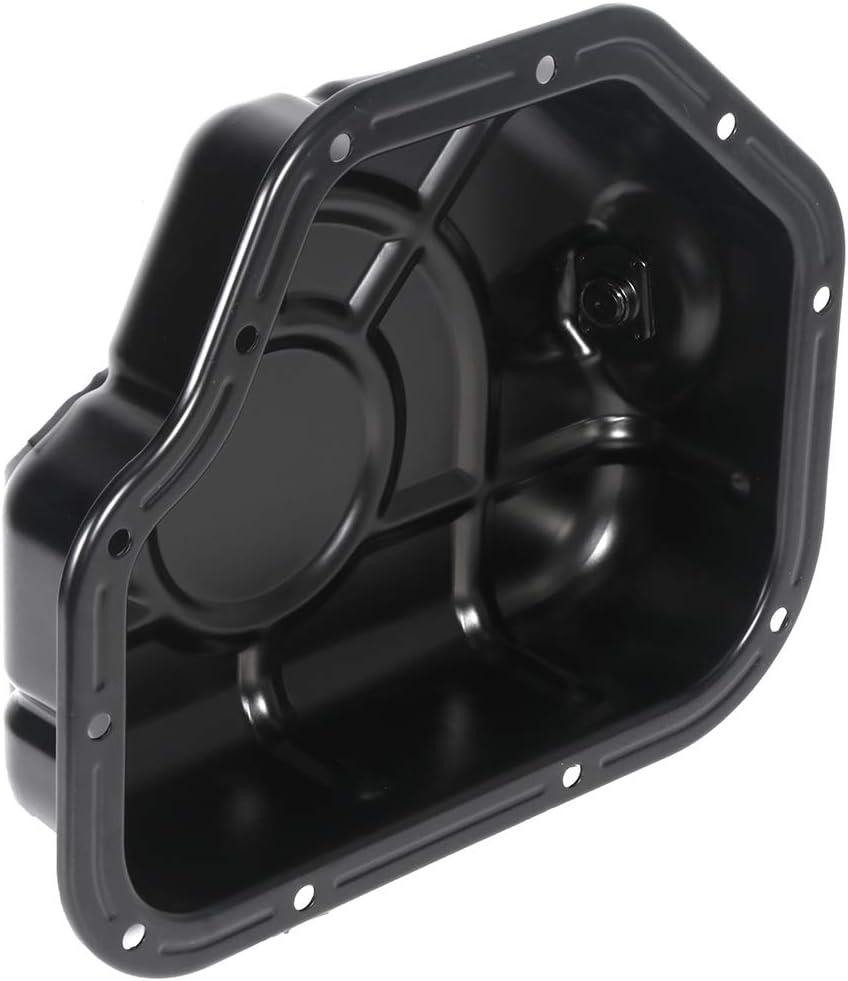 SCITOO 264-436 215103E000 Engine Oil Pan Iron Assembly Fits 2006-2010 V6 2.7L Cummins Diesel Hyundai Santa Fe Kia Optima Rondo Oil Drain Pan