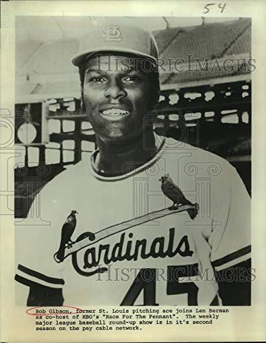 (Historic Images - Vintage Press Photo Bob Gibson, Former St. Louis Cardinals Baseball Pitcher - sas10690)