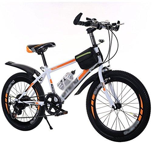 DUWEN Children's bicycle Children's Speed Bicycle Girl Boy 18-20-inch Primary Schoolchild Mountain Bike (Color : Orange)