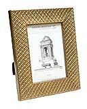 "Maxxi Designs 5"" X 7"" Ravenna Frame, Gold / Argyle"