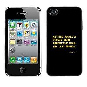 X-ray Impreso colorido protector duro espalda Funda piel de Shell para Apple iPhone 4 / iPhone 4S / 4S - Motivational Productive Funny Quote