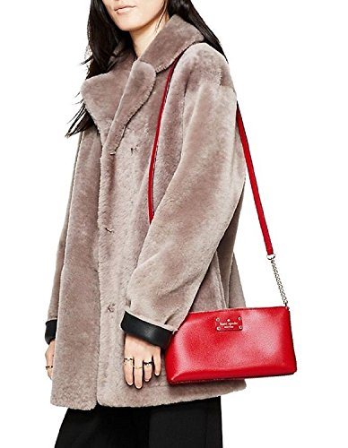 Wellesley Classic Spade Leather Red Crossbody Declan Pillbox Kate BZz6qwWW