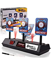 Satkago Mini Auto Reset Digital Targets Compatible for Nerf Guns Targets for Shooting with Intelligent Light Sound Effect for Kid