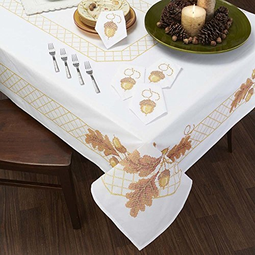 (Herrschners® Acorns and Leaves Table Linens Stamped Cross-Stitch)