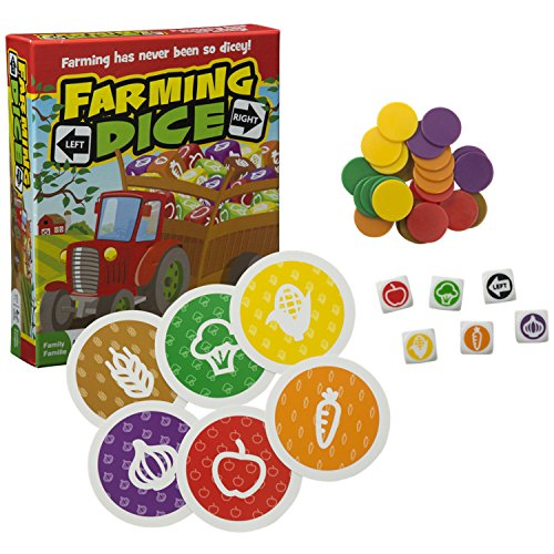 (Outset Media Farming Dice - A Game Of Chance, Probability, Math, And Strategy - A Fun Family Dice Rolling Game (Ages)