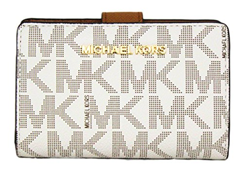 f9ebe6ab4735 Michael Kors Jet Set Travel Bifold Zip Coin Wallet Clutch by Michael Kors  ...