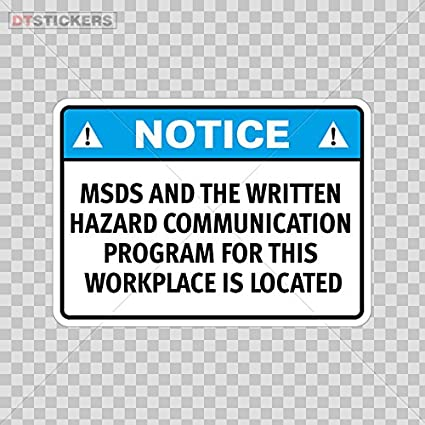 Amazon com: Decoration Vinyl Stickers Notice Msds And The