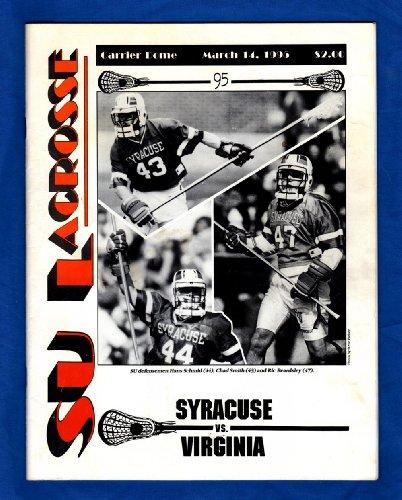Syracuse University vs. Virginia, Lacrosse Game Program, March 14, 1995. Cover: Hans Schmid, Chad Smith, Ric Beardsley ()