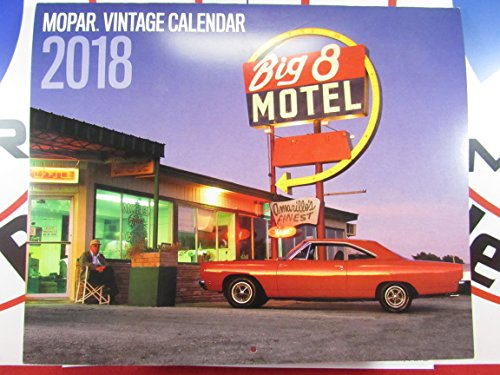2018 MOPAR Muscle CAR Calendar 12 month Vintage DODGE CHRYSLER PLYMOUTH NEW OEM