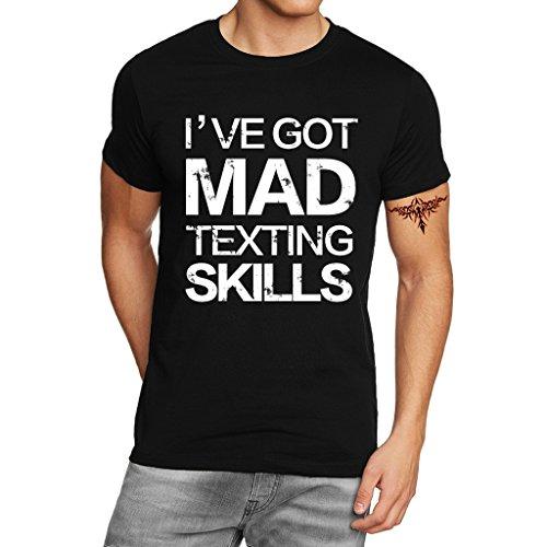 YISUMEI Women's T-Shirt Short Sleeve Tee I've Got Mad Texting Skills Black XXX-Large