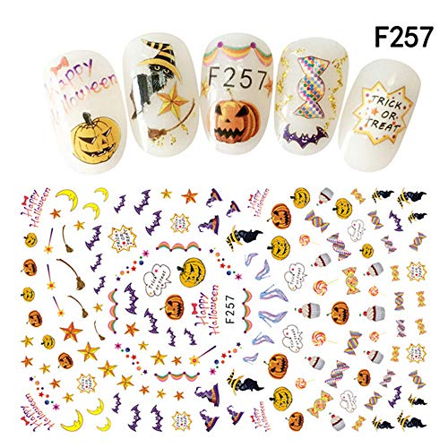 Clearance Sale! Halloween Nail Sticker Tips for Girls,
