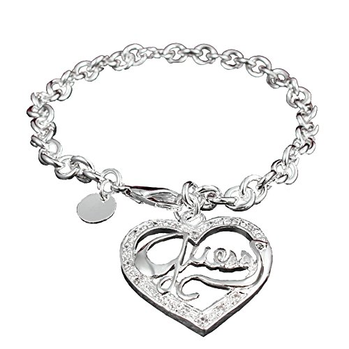 Tiffany Star Bracelet (Bling Stars Heart Charm Bracelet Letter Engraved Toggle I Love You Cable Chain)