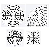 Mandala Dotting Stencils Mylar Painting Templates Mandala Dot Painting Stencils for Painting on Wood, Airbrush and Walls Art, 8/16 Segment (4 Pack)