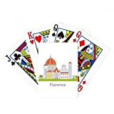 Italy Florence Landscape National Pattern Poker Playing Cards Tabletop Game Gift