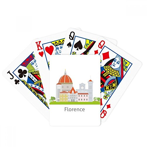 Italy Florence Landscape National Pattern Poker Playing Cards Tabletop Game Gift by beatChong