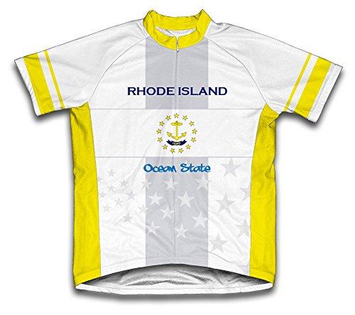Rhode Island Flag Short Sleeve Cycling Jersey for Women - Size ()