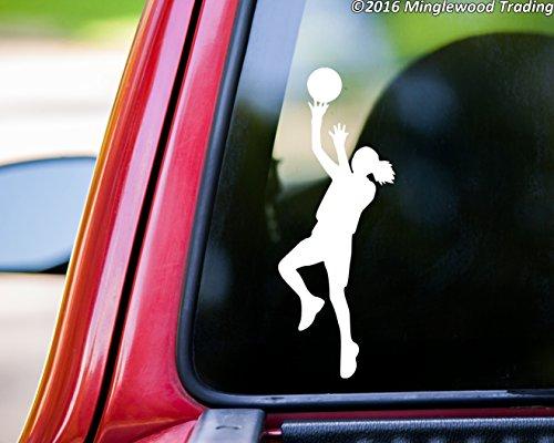Minglewood Trading Girl Basketball Player vinyl decal sticker 6.5