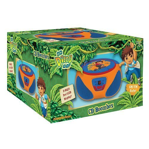 Diego Toddler Bedding - Go Diego Go! CD Programmable Boombox 2-Digit Red LED Display